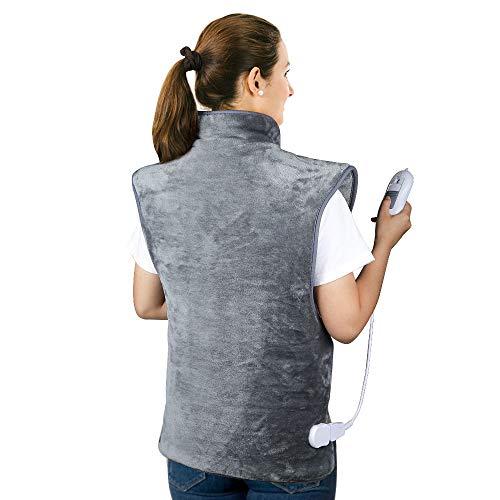 Heizkissen für Rücken Schulter Nacken, HailiCare 60 x 100cm Elektrisch Wärmekissen Heizdecke mit Abschaltautomatik und 3 Temperaturstufen zur Linderung von Rücken und Schulterschmerzen