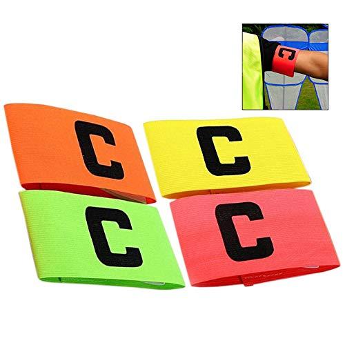 iwobi 4 pezzi Fascia da Capitano,Captain Armband Calcio/Fascia da Braccio per Capitano per Adulti e Giovani