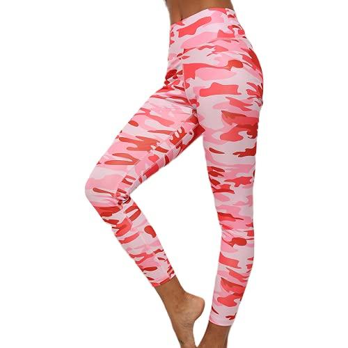 Pantalon de Yoga Mince Camouflage Taille Haute Collants de Fitness Hip-up Sport pour Femmes Pantalons d