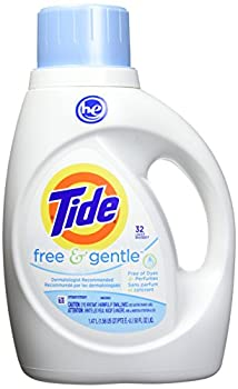 Tide Free & Gentle HE Turbo Liquid Laundry Detergent Pack of 2 Unscented 1.47 L  32 Loads