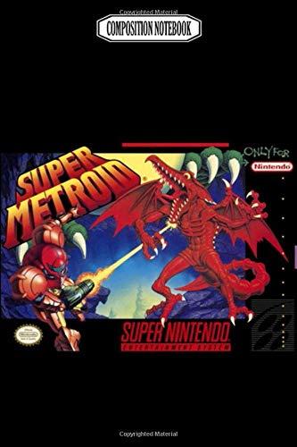 Composition Notebook: Super metroid box consoles super lanyard gameboy handheld nintendo Journal...