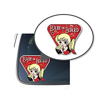 Baby Harley Quinn BABY - Kid - Kids/ON BOARD [Buyers Choice] - Awareness Warning Sign Die-cut Printed Waterproof Vinyl Sticker HQ2