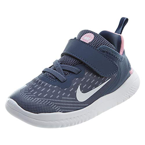 Nike Unisex Baby Kleinstkinder Schuh Free Run 2018 (TDV) Hausschuhe, Mehrfarbig (Diffused Blue/White/Ashen Slate/Pink 402), 17 EU