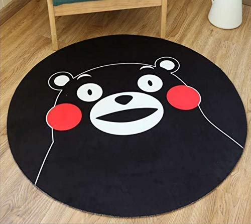 YuQiang Home Cartoon Children 3D Circular Printed Carpet Into The Door Mat Foot Mat Modern Personality Hanging Basket Computer Chair Mat,140cm*140cm