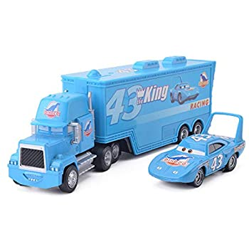 fashionmore 2 PCS Cars Movie Toys The King & Mack Hauler Truck Diecast Toy Car 1 55 Loose Kids Toy Vehicles McQueen Toys Car