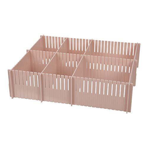 YYDDZ 3pcs DIY Drawer Divider,Plastic Grid Drawer Separator Household Storage Box Tidy Organizer Container Best for Kitchen,Dresser,Bedroom,Bathroom-E 55x8.2x0.2cm(22x3x0)