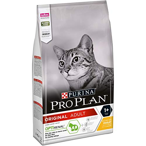 PURINA Pro Plan Comida Seco para Gato Adulto con Optirenal, Sabor Pollo - 1.5 Kg