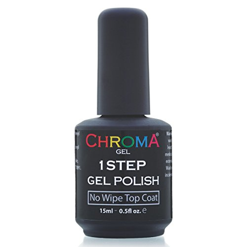 Chroma Gel 1 Step UV & LED Gel Nail Polish NO WIPE TOP COAT 25