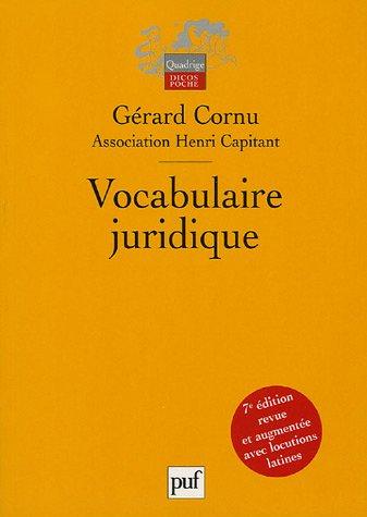 Vocabulaire juridique: Association Henri Capitant