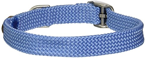 "Mendota Double Junior Collar, Sky Blue, 9/16"" Up to 14"""