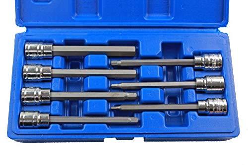 US Pro Long 7pc Esagonale 3//8 Bit Socket Set 3-10mm Chiave a Brugola B1399 H3 4 5 6 7 8 10mm
