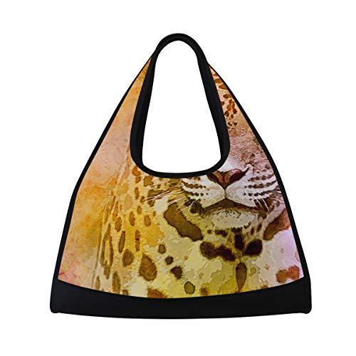 KIMDFACE Sporttasche,Amerikanische Jaguar Illustration,Neue Druck Verschiedene Muster Sport reisetaschen sporttaschen Kurze Reise Rucksack umhängetaschen