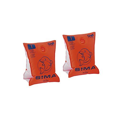 SIMA by Fashy Kinder Schwimmhilfe Sima, orange-blau, 30-60 kg