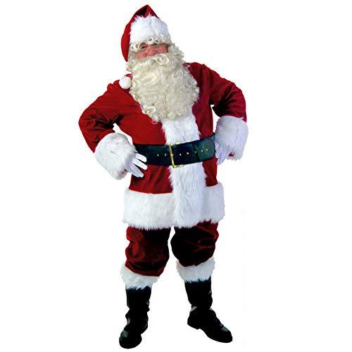 LWPCP Costume da Babbo Natale, Set da Babbo Natale Set da 10 Pezzi,XL