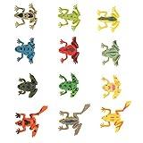 POPETPOP 12 Piezas de Plástico de Juguete de Rana Sapo Modelo de Rana Figuras de Animales Juguetes de Animales Rana Tropical Modelo de Juguetes Juguetes Educativos Favores de Fiesta