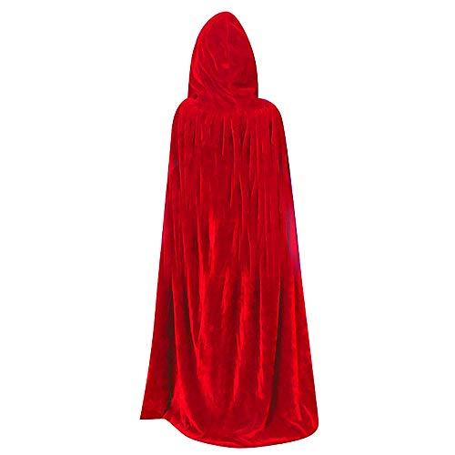 QBSM Halloween Christmas Red Kids Hooded Cloak Velvet Witch Wizard Costume Vampire Cape