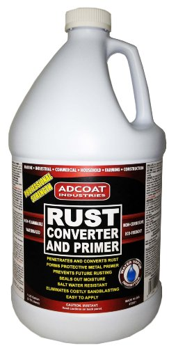 Rust Converter and Primer - Gallon Size, One-Step to Remove Rust and Prime Surface