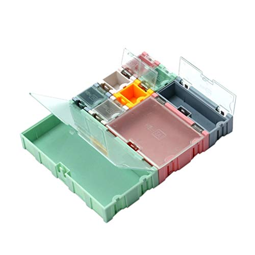 Xiaoyao24 9pcs/Set SMD Container SMT IC Electronic Component Mini Storage Box Jewelry Case