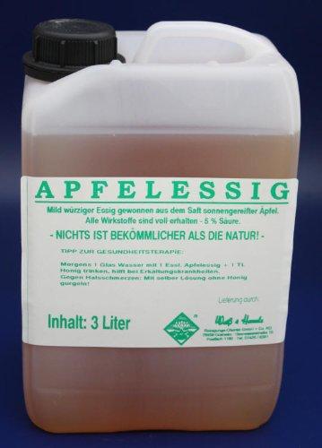 Wasserrose® 3 LITER (1L=4,33€) KANISTER APFELESSIG APFEL ESSIG MADE IN GERMANY