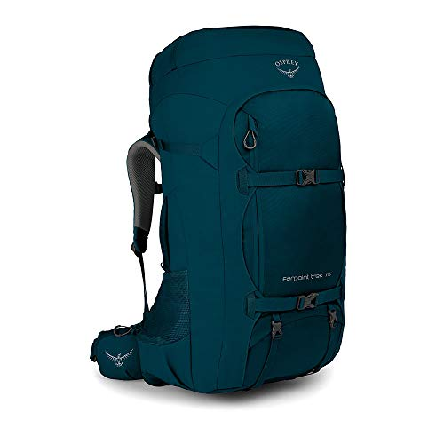 Osprey Farpoint Trek 75 Men's Travel Backpack, Petrol Blue