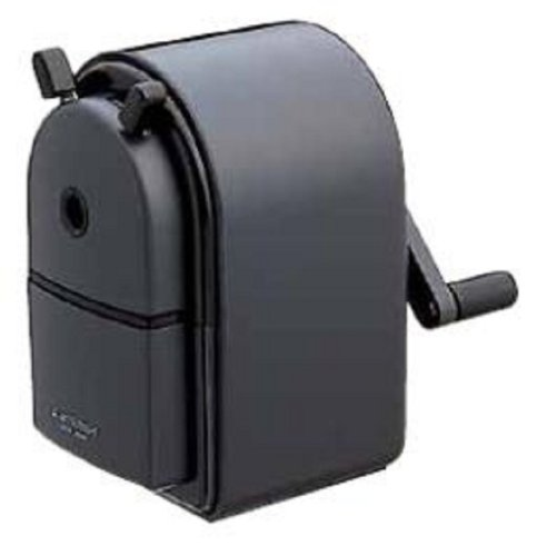 Uni KH-20 Hand Crank Wooden Pencil Sharpener - Black (One Pack)
