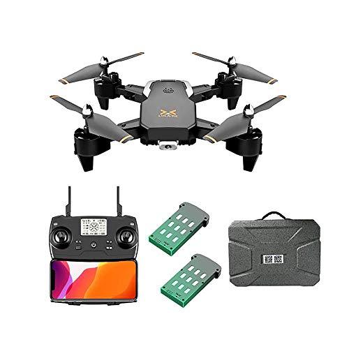 J-Love Drone GPS con cámara 4K HD para Adultos, Quadcopter con cámara Gran Angular Ajustable, 5G WiFi 200M Video en Vivo Dron Plegable, GPS Return Home, Sígueme, Drone Quadcopter para Principiantes