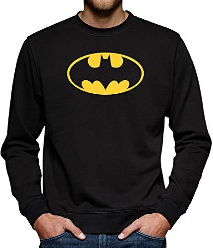 Batman Logo Sweatshirt Pullover Herren XXL Schwarz