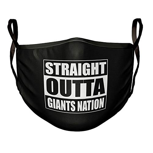 Mask Straight Outta Giants Nation Football Black Face Mask
