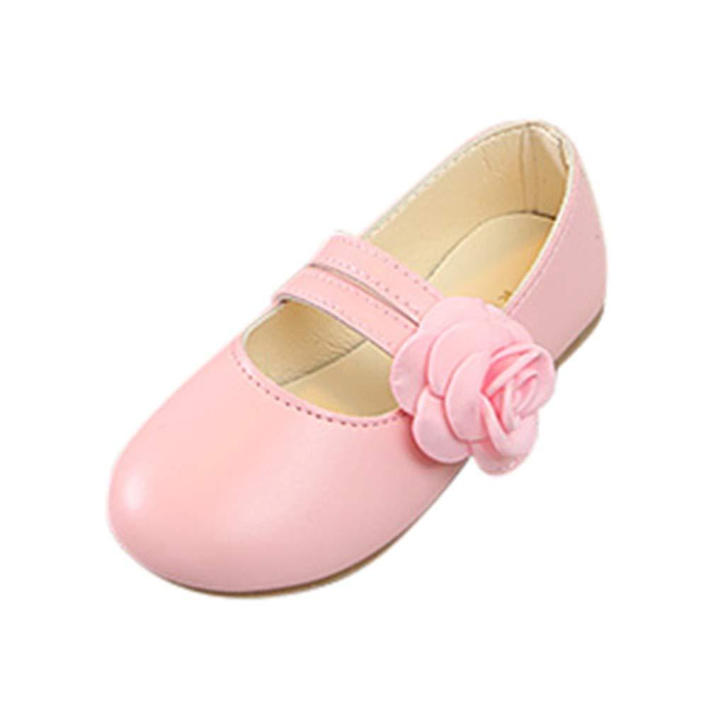 WINJIN Filles Ballerines Chaussures de Princesse Mary Jane Étudiants Chaussures Bebe Fille Chaussures De Danse Chaussures en Cuir Chaussure de Marche pour Fille Bebe Parti Fête Communion Mariage