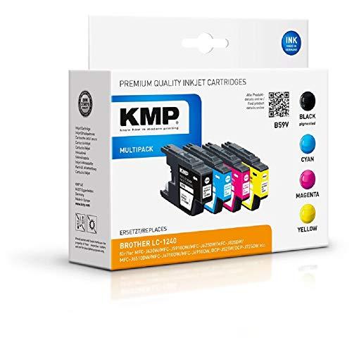 KMP B59V - Cartucho de Tinta (sustituye a Brother LC1240VALBP, Alternativo a B37V)