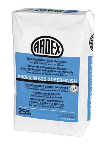 ARDEX W 820 SUPERFINISH HandSpritzRoll Spachtelmasse 25 kg/ Sack