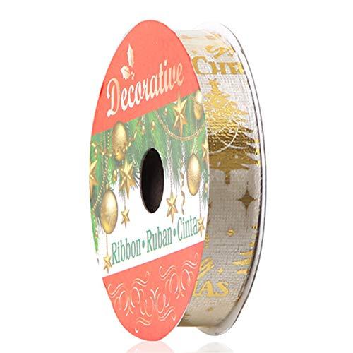 unknow Sawyerda - Rollo de cinta de purpurina para manualidades y regalos para envolver regalos de fiesta y decoración de festivales, árbol de Navidad dorado, 1,6 cm