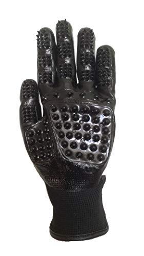 JF-Reitsport VM Riding Sports Putz- und Waschhandschuh Handschuh, Schwarz, XS