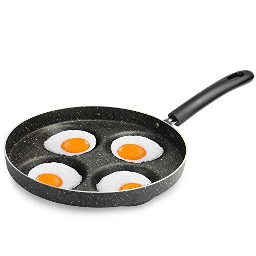 Sartén multi huevo | Cocina de huevo | Sartén de huevo asado y escalfado para estufa de gas | Perfecto para escalfar huevos | M&W