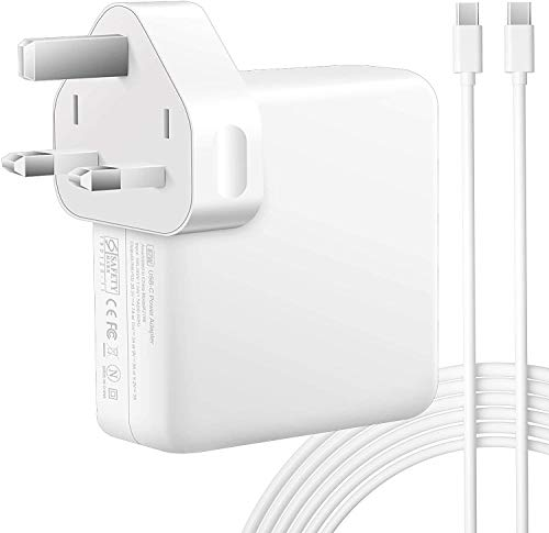 SunMac 87W USB C Power Adapter Compatible with Mac Book Pro Charger 13 & 15 Inch 2016 2017 2018 2019 2020, Mac book Air 2018 Late, Work With Other USB C Device, Come With 2M USB C Cable