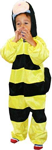 Fun Play Disfraz Animal Abeja / abejorro niño - Animal Onesie abejorro para niños 3-5 años (110 cm) Talla M