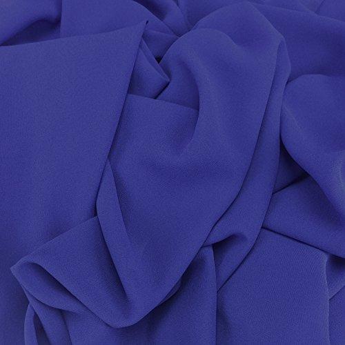 Royal Blau Georgette Chiffon Synergy Uni-Stoff, Bridal, Kleid Stoff 152,4cm 150cm Breite–Meterware