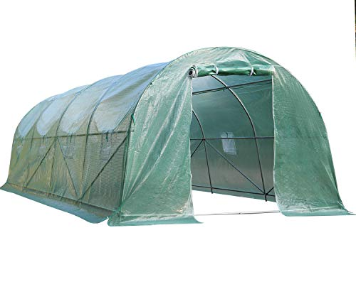 20' x 10' x 7' Steel Greenhouse for Outdoors Greenhouse Walk-in Green House Greenhouse Kit Indoor Greenhouse Plant Shelves Tomato Herb Canopy for Patio, Best Outdoors Greenhouse Walk-in Green House