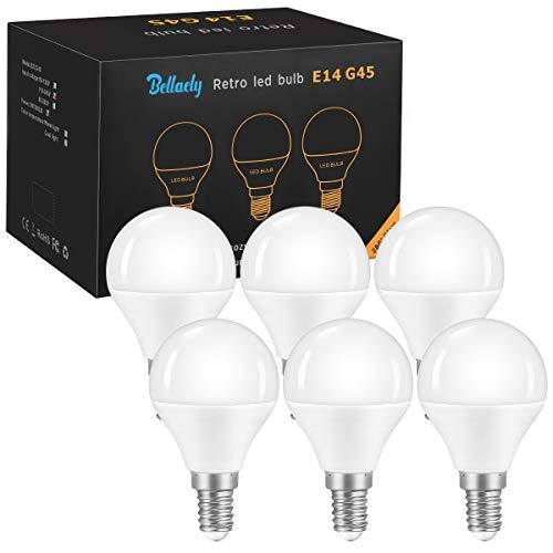 Bombilla LED E14 Luz Blanco Frío 5W Casquillo Fino E14 (Equivalente a 40W Lámpara), luz natural 6500K, 500LM G45 bombillas led, No Regulable - 6 Unidades