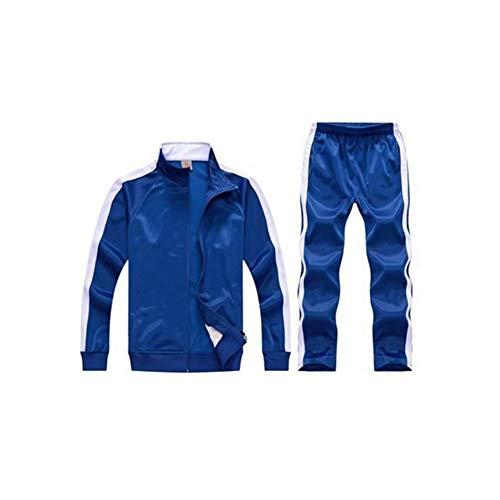 Ropa de Entrenamiento de fútbol Jersey Azul para Hombres y Mujeres, Medias Deportivas para niños Traje de Entrenamiento físico Ropa de Entrenamiento de fútbol Material de Fibra de poliéster Poli