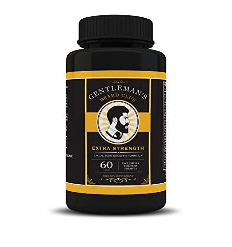 Gentleman's Beard Club Facial Hair Growth Formula Beard Growth Supplement Vitamins Fuller Thicker Manlier Beards for All… 1