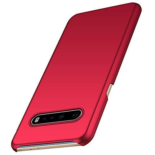 anccer Kompatibel LG V60 ThinQ Hülle [Serie Matte] Elastische Schockabsorption & Ultra dünnes Handyhülle Design für LG V60 ThinQ 5G (Glattes Rot)