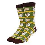 SOCKFUN Corgi Socks for Men Boys Novelty Funny Crew Dog Socks for Animal Lovers Gift