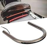 Fydun 9.1in 8.3in 6.9in Tube Cafe Racer Rear Seat Frame Hoop Brat Style Seat LED Brake Turn Singal Light Universal for Ho-nda Yam-aha Suz-uki Kaw-asaki (230mm)