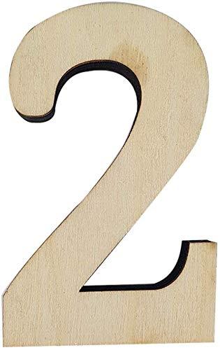 Weddecor Grote Houten Aantal Tegels voor Versieringen, Card Making, Kunst & Ambacht, Scrapbooking, DIY Projecten, Feestdecoraties, Puzzels, Wandframe