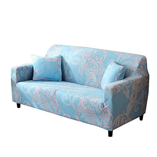 WanYangg Spandex Elastischer Sofabezug, Sofahusse+Kissenbezug, Sofa-Überwürfe Couchhusse Spannbezug Antirutsch Stretchhusse Abwaschbar U Set3 2 Seater:145-185cm