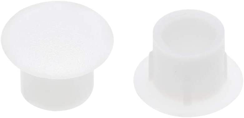 Limited time Max 65% OFF trial price uxcell Shelf Peg Hole Plugs 8mm Dia Plastic Tube Cover for White