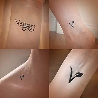 Veganes Set mit 4 temporären Tätowierungen. Veganer Strumpffüller. Veganes Geschenkset. Vegan.