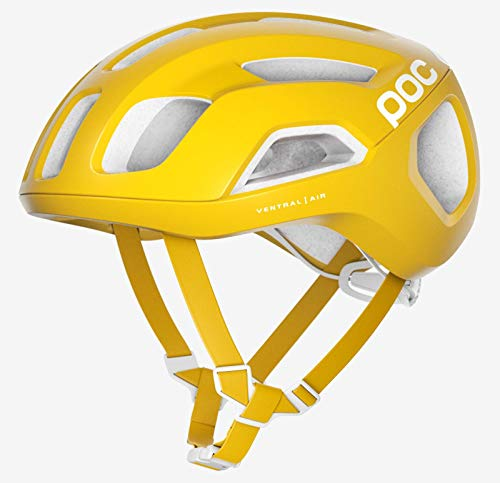 POC Sports Ventral Air SPIN Casco de Ciclismo, Unisex Adulto, Amarillo sulfito, Large