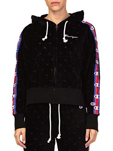 Champion Velour Hooded Jacket Ref: 111045-KL001 Color: Black,Blue,Red,White (XS)
